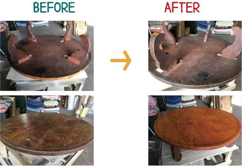 家具修理 ビフォーアフター